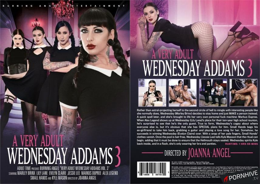 A Very Adult Wednesday Addams 3 Movie Poster - Click to watch.